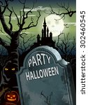 halloween party poster | Shutterstock .eps vector #302460545