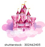 vector pink princess magic... | Shutterstock .eps vector #302462405