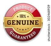 gold genuine product badge with ... | Shutterstock .eps vector #302468939