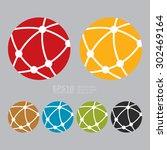 vector   worldwide  business... | Shutterstock .eps vector #302469164