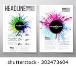 abstract circle black banners... | Shutterstock .eps vector #302473604