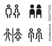 toilet icon great for any use....   Shutterstock .eps vector #302477201