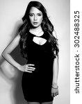 beautiful asian young woman in... | Shutterstock . vector #302488325
