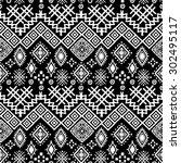 tribal art boho seamless...   Shutterstock .eps vector #302495117