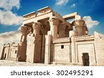 ruins of the temple of kom ombo ... | Shutterstock . vector #302495291