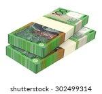 australian dollar isolated on... | Shutterstock . vector #302499314