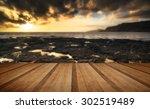 stunning landscape ocean at...   Shutterstock . vector #302519489