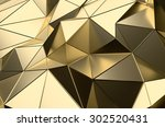 abstract 3d rendering of gold... | Shutterstock . vector #302520431