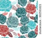 vector seamless pattern with... | Shutterstock .eps vector #302531021