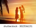 happy family together  romantic ... | Shutterstock . vector #302536151