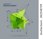 Abstract Green Design Element ...