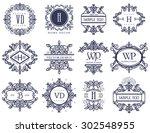 set luxury logos template...   Shutterstock .eps vector #302548955