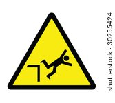 falling hazard sign | Shutterstock .eps vector #30255424