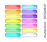 vector web buttons set | Shutterstock .eps vector #302564819