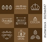 cocoa icon  logo  signs and... | Shutterstock .eps vector #302566547