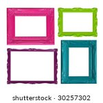 four contemporary picture... | Shutterstock . vector #30257302