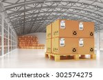 distribution warehouse  package ... | Shutterstock . vector #302574275
