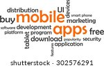 a word cloud of mobile apps...