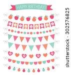 birthday party vector... | Shutterstock .eps vector #302576825