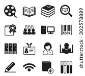 library icons vector... | Shutterstock .eps vector #302578889