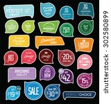 badges and labels collection | Shutterstock .eps vector #302580899