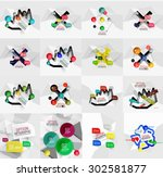 set of light  paper design... | Shutterstock .eps vector #302581877