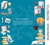 education background back to... | Shutterstock .eps vector #302582711