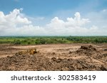 land area adjustment and... | Shutterstock . vector #302583419