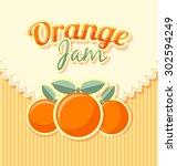 orange jam label in retro style ... | Shutterstock .eps vector #302594249