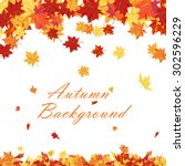 autumn  frame with falling ... | Shutterstock .eps vector #302596229