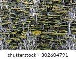 stone wall waterfall | Shutterstock . vector #302604791