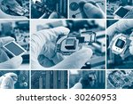 high technology  background | Shutterstock . vector #30260953
