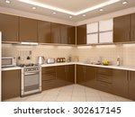 3d illustration of modern style ... | Shutterstock . vector #302617145