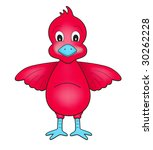 red duck character on white | Shutterstock . vector #30262228