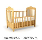 baby cot isolated under the... | Shutterstock . vector #302622971