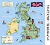 Cartoon Vector Map United...