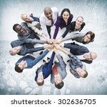 business people togetherness... | Shutterstock . vector #302636705