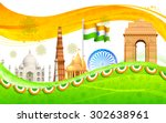 illustration of wavy indian... | Shutterstock .eps vector #302638961