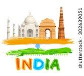 illustration of wavy indian... | Shutterstock .eps vector #302639051