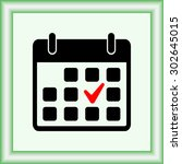 calendar sign icons  vector... | Shutterstock .eps vector #302645015
