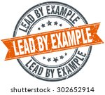lead by example round orange... | Shutterstock .eps vector #302652914