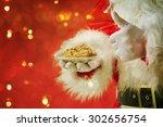 Santa Picking Cookie