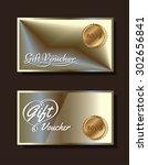 voucher template with premium... | Shutterstock .eps vector #302656841