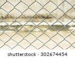 curved steel and steel door  | Shutterstock . vector #302674454
