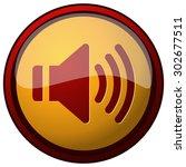 sound icon yellow round button  ...