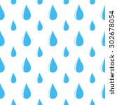 seamless pattern with water drop | Shutterstock .eps vector #302678054