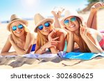 a picture of a group of friends ... | Shutterstock . vector #302680625