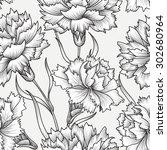 floral seamless pattern.... | Shutterstock .eps vector #302680964