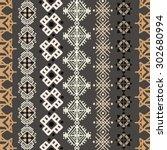 tribal art boho seamless...   Shutterstock .eps vector #302680994