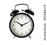 vintage black clock isolated | Shutterstock . vector #302686115